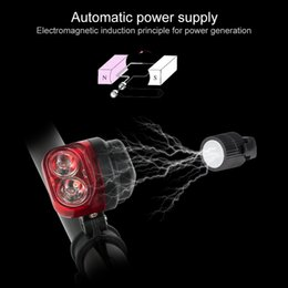 Wholesale Red Bike Lights - Coquimbo Red LED Taillights Night Light For Bicycle Waterproof Automatic Magnet Power Supply Bike Night Light Built In Battery