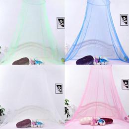 2019 ropa de cama princesa moderna Elegante Encaje Redondo Insecto Cama Canopy Red Cortina Dome Mosquito Net Nueva Casa Ropa de cama Decoración IB518