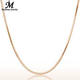 Piezas de enlace de cadena online-Moda 18 Pulgadas Hombres Mujeres Collar de Cadena de Serpiente de Oro Rosa de Color Para Las Mujeres enlace cadena de joyería de regalo colgante de Piezas Al Por Mayor