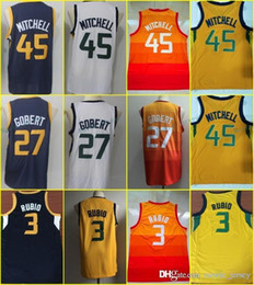 basketball jersey 12 Coupons - Top quality 45 Donovan Mitchell 3 Ricky  Rubio 2018 New Men s a03c83d4a