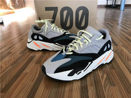 Wholesale Outdoor Boot Box - Discount Kanye West Wave Runner 700 Running Shoes Mens Women Fashion Basketball Shoes Street Sneakers Athletic Outdoor Shoes Original Box