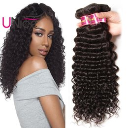 Wholesale Malaysian Deep Curls - UNice Hair Malaysian 8A Remy Deep Wave 5 Bundles Unprocessed Virgin 100% Human Hair Extensions Wholesale Nice Curl Hair Weave Bundles Cheap