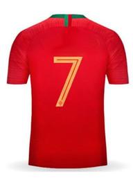 Fútbol online-Calidad tailandesa personalizada 18-19 casa 7 # Red Soccer Jerseys Shirt, F. Camiseta de fútbol COENTRAO # 5, J. Ropa de fútbol MOUTINHO # 8 MIGUEL # 4