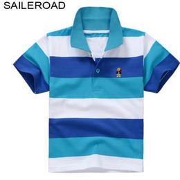 382136c48a Saileroad 3 -15 años grandes niños niños polos para el verano 100% algodón  Turn-Down cuello adolescente adolescente niños niñas Tops Tees blusa