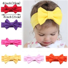 Wholesale baby hair headband winter - Soft Silk Toddler Handmade Stretch Headwraps For Winter Baby Headbands With Boutique Bow Girl Hairband Wholesale