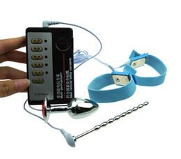 Детские игрушки для мальчиков онлайн-Горячая продажа электрическим током, анальный секс-игрушки, электрическая стимуляция катетер вилка полового члена, анальный штекер, электрошок пенис кольцо для мужского использования
