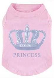 Wholesale princess sweatshirts - wholesale and retail Prince Fashion Pet T-Shirt Small pet Clothes Dog Coat Puppy Costumes princess Printed Shirt