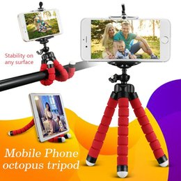 2019 trípodes de pulpo Pulpo flexible Soporte para teléfono Trípode Selfie Stick Soporte de soporte universal para teléfono móvil Cámara Selfie Monopod con Bluetooth Obturador remoto trípodes de pulpo baratos