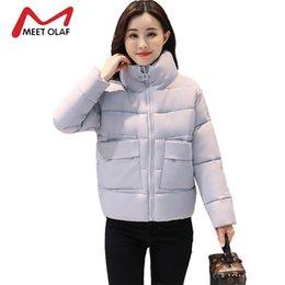 Wholesale Girls Purple Fur Coat - 2017 Women's Down Winter Jackets Women Winter Coats Fur Hooded Female Cotton Padded Parkas Girls jaqueta feminina inverno Y1367