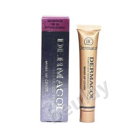 Wholesale Pc Based - free shipping for 1 pc Dermacol Brand 30g Concealer Palette Makeup Cover Tatoo Base Foundation Primer Corrector Cream Makeup