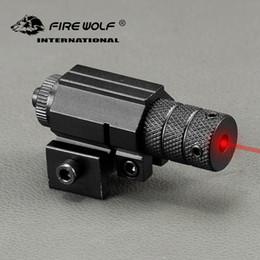 Dispara pistola on-line-Poderoso Tactical Mini Ponto Red Laser Sight Scope Weaver Picatinny Mount Set para Gun Rifle Tiro Pistola Airsoft Riflescope Caça