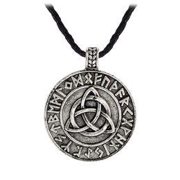 regalos de vikingos Rebajas Cadena Vikinga Círculo trinidad collar colgante Valknut collar Vikinga joyería rúnica regalo para hombre collar