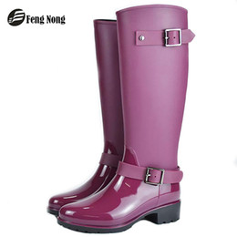 9ed0a0b53ac Botas de inverno Fengnong Primavera design da marca mid-calf botas zip chuva  estudante preppy sapatos mulher fivela de borracha rainboots w014 sapatos  ...
