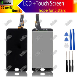 Wholesale Hd Display Mobiles - for Meizu M2 mini LCD Display 5.0inch + Touch Screen + Tools High Quality HD Digitizer Assembly For Mobile Phone tempered glass
