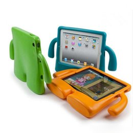 Wholesale 3d Case For Ipad - 3D Cute portable kids Safe Foam ShockProof EVA Case Handle Cover Stand For iPad New 2017 2 3 4 air 2 Mini 4 case