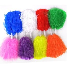 Wholesale Hot Glass Supplies - Cheering Fancy Pom Poms Multi Color Handheld Flower Ball Cheer Dance Sport Supplies Hot Sale 2hd C R