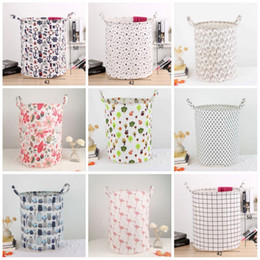 hamper clothes basket Promo Codes - Fashion Printed Washing Hamper Chunky Waterproof Folding Dirty Clothes Basket INS Safety Eco Friendly Laundry Storage Baskets New 12 5kk B
