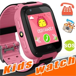 Wholesale emergency call - Q528 Kids Smart Watch Kid SmartWatch 1.44 Inch Touch Screen SOS Emergency GPRS Alarm Camera Anti-lost Clock Wristwatch Baby Clock