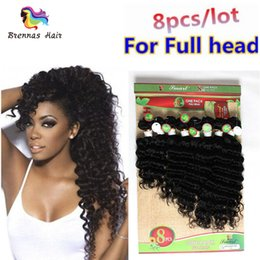Wholesale Sewing Human Hair Extension - POPULAR Brazilian Natural Wave Human Unprocessed Hair Sew In hair Extensions DEEP WAVE Female Brazilian Hair BODY wave DEEP CULRY