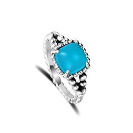 4c476c865 2019 espírito prata CKK 925 Sterling Silver Vibrant Spirit Ring, Scuba  Cristal Azul Para As