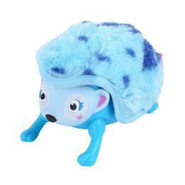 Hérisson interactif pour animaux Multi-modes Éclairages Sons Capteurs Yeux lumineux Wiggy Nose Walk Roll Headnoir Curl up Giggle Toys pour enfants ? partir de fabricateur