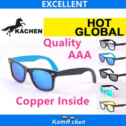 Wholesale Material Wrap - KaChen 901 902 1001 17 50mm 54mm Plank White Black frame Polarized Glass material lens UV400 protection AAA 1:1 quality sunglasses glasses