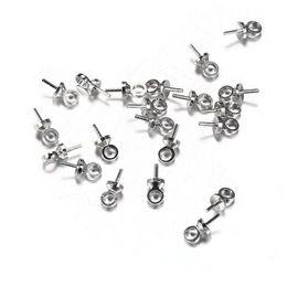Canada 100pcs / lot 6 * 3mm goupille casquettes de perle argent couleur fin capuchons de sertissage pour perles bricolage résultats de bijoux faisant supplier bead cap ends Offre