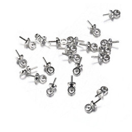 Crimp-endkappen online-100 teile / los 6 * 3mm pin Perle Caps Silber Farbe Ende Crimp Caps für Perlen DIY Schmuckzubehör Machen