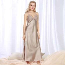 07e27f4589 Sexy Pink Robe Femme Spring Summer Bridesmaid Robes Bathrobe Dressing Gown  Silk Robes For Women Sleep Clothes Q956