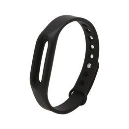 Xiaomi mi band черный онлайн-ANENG Black Silicone Wrist Band Strap Wristband Replacement For Xiaomi Mi Band 1