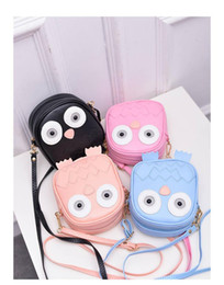 Wholesale owl crossbody bags - children Cute Purse Handbag Owl Women Messenger Bags For Summer Crossbody Shoulder Bag with Belt Strap Lady Clutch Purses Phone girls gifts