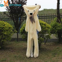 большой белый медведь чучела животных Скидка 200 см плюшевый медведь кожи игрушка плюшевый мишка Bearskin гигантское пальто плюшевые игрушки Дети день рождения Рождество DIY подарок