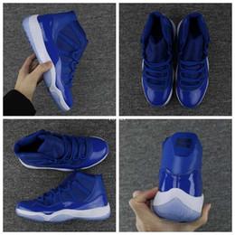 2018 neue hohe Qualität 11 XI Royal Blue Basketball Schuhe für Männer Sport Mens 11s Trainer sportlich Turnschuhe Größe US 7-13 von Fabrikanten