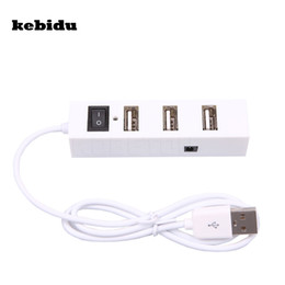 Wholesale Port Vista - kebidu External Multi Hub Expansion 4 Ports USB 2.0 On Off Switch Splitter USB Hubs For Windows for XP Vista 7 Mac OS 9.1