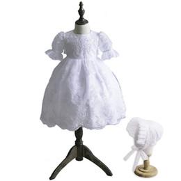 4b169f455 Formal recién nacido Princesa bebé recién nacido batas de bautizo Bautizo  cumpleaños bautismo encaje satinado blanco marfil con gorra