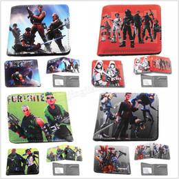 Wholesale teenagers shorts - Fortnite Cosplay Wallet With Card Holder Coin Pocket teenager Short Purse Cartoon Toys for Kids Gift 5 styles MMA168