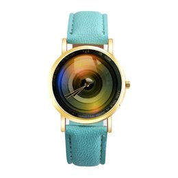 Wholesale Yoyo Blue - YOYO Wholesale unisex men women CD Disk Design leather watch fashion 2018 New ladies casual dress quartz students wrist watches