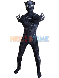 Wholesale Female Superheroes - Black Panther Civil War Costume 3D Shade Cosplay zentai Suit Halloween Party Superhero Costume free shipping