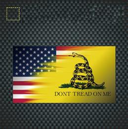 2019 carro adesivos serpente Cobra amarela Amercia Nacional Bandeira Etiqueta Do Carro Personalidade Criativa Veículo Paster Equipamento Ao Ar Livre Autocar Decoração 1qt gg carro adesivos serpente barato