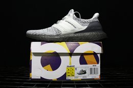 Wholesale green cookies - High Quality UltraBoost 4.0 Cookie Cream Running Shoes Men Women Ultra Boost 3.0 Uncaged Primeknit Runner Black White Snow Fashion Sneakers