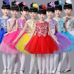 Wholesale American Head Dress - Professional Tutu Girls Children dance Dress Kids Gown Professional Tutus Dance Leotard Costume skirts with head flowers