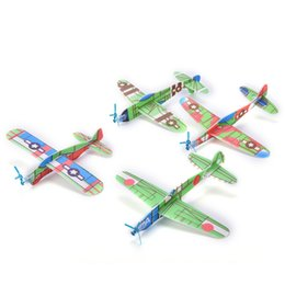Wholesale Ship Kites - 12Pcs DIY Assembly Flapping Wing Flight Model Imitate Birds Aircraft Toys For Children Flying Kite Paper Airplane For boy's gift