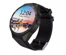 Orologi intelligenti android wifi online-KW88 schermo rotondo orologio intelligente con telefono GSM WCDMA 850 Android WiFi APP download installare smart phone orologio per gli uomini 2018