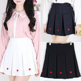 Canada DE jupe noire plissée belle jupe blanche douce, plus la taille élégante style jupe taille haute mignon nouvelle vêtements pour femmes Offre