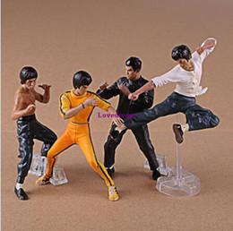 Argentina Venta caliente 4 unids / set fresco Bruce Lee Kung Fu figuras de acción modelo de juguetes juguetes regalo del teléfono del cabrito Suministro
