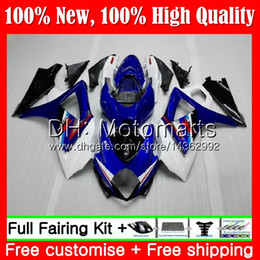 Carenado k7 azul online-Cuerpo K7 para SUZUKI GSXR-1000 K7 GSX-R1000 GSXR 1000 07 08 31MT11 Sotck blue GSXR1000 07 08 Carrocería GSX R1000 2007 2008 Fairing Bodywork