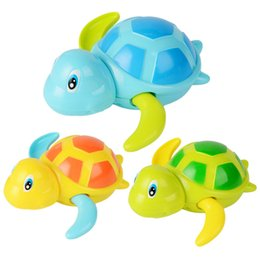 Wholesale Baby Tortoise - Bath Toy Newborn Cute Cartoon Animal Tortoise Baby Bath Toy Infant Swim Turtle Chain Clockwork Classic Toys Kid Educational Toys