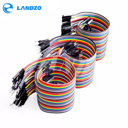 Wholesale Double Shield - free shipping Dupont line 120pcs 20cm male to male + male to female and female to female jumper wire Dupont cable for arduino