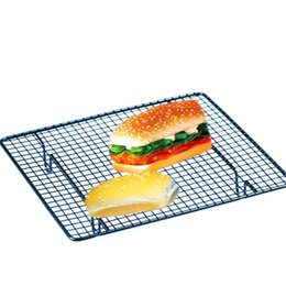 Wholesale Cooler Racks - Wholesale- Metal NonStick Wire Baking Oven Bread wire rack for baking Bread cooling rack baking tool EN2292