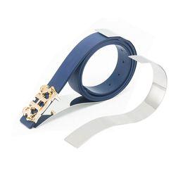 cinture a specchio Sconti Supporto per cintura in metallo argentato opaco / a specchio Supporto per espositori per cinturini in oro rosa per negozi di abbigliamento da uomo Boutique QW7146